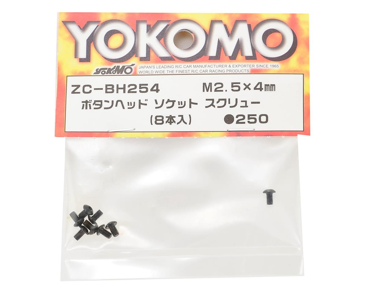 Yokomo 2.5x4mm Button Head Hex Screw (8)