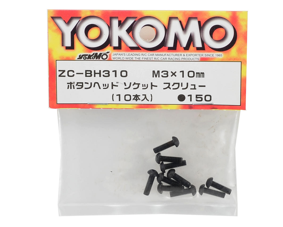 Yokomo 3x10mm Button Head Hex Screw (10)