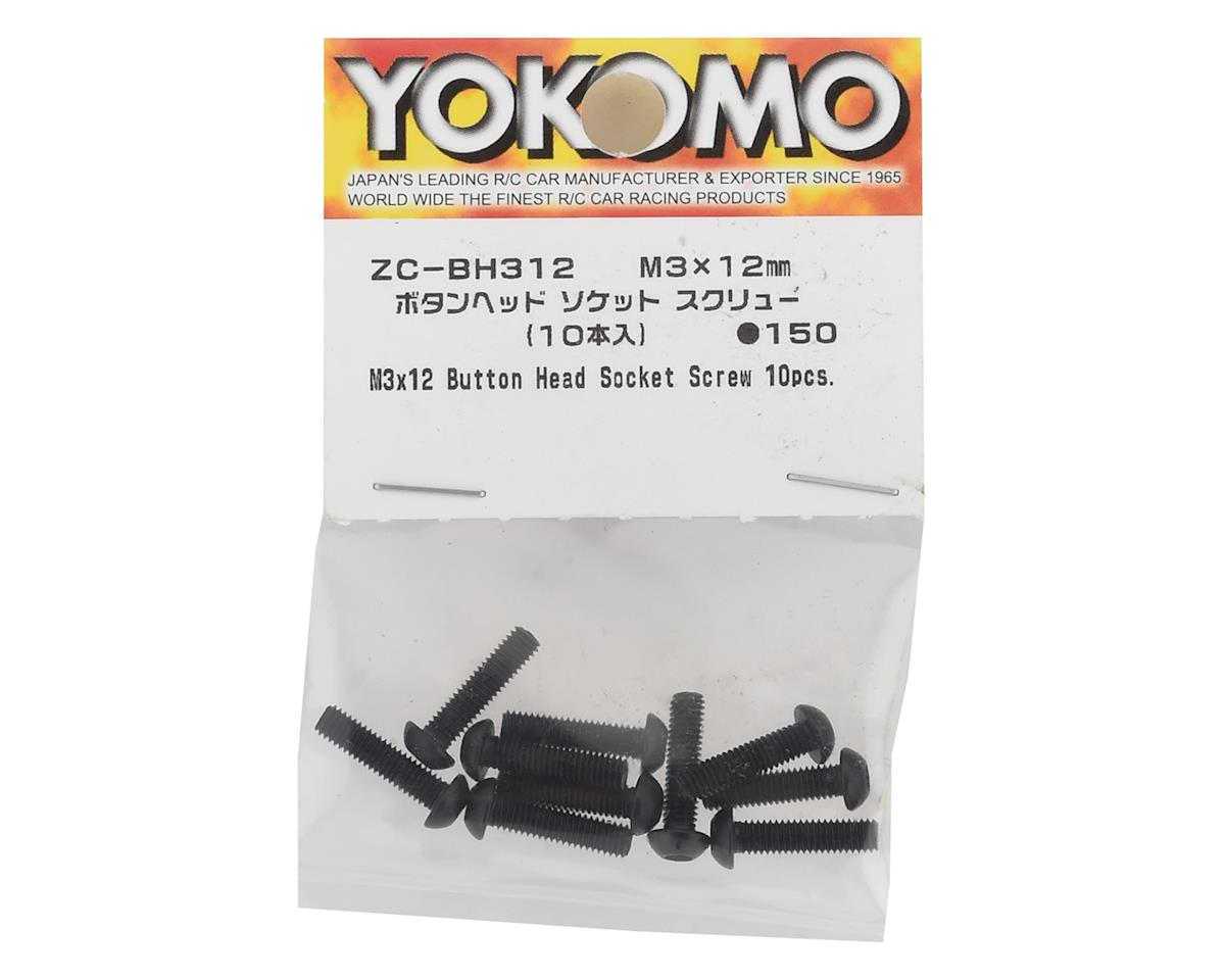 Yokomo 3x12mm Button Head Screw (10)