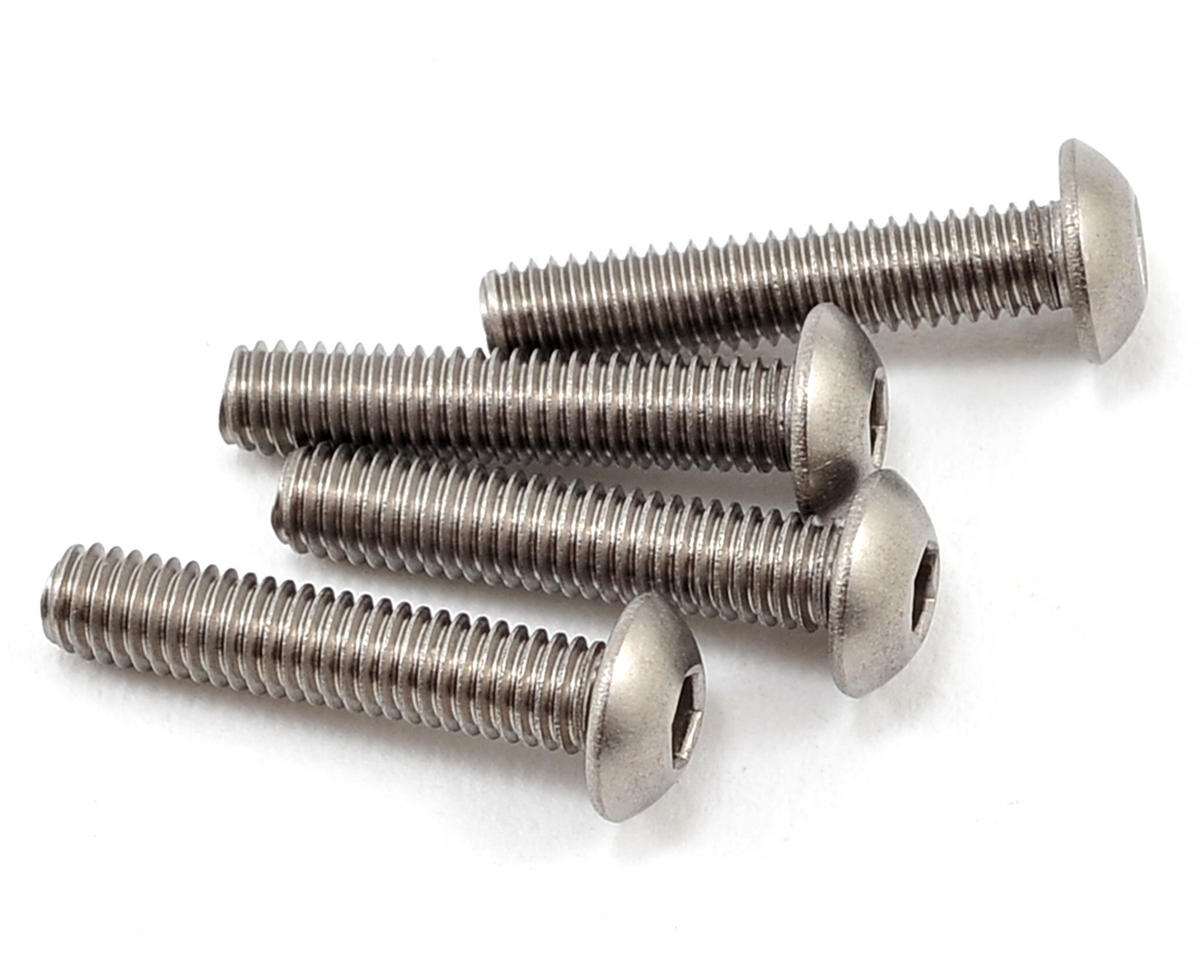 Yokomo 3x15mm Titanium Button Head Screw (4)
