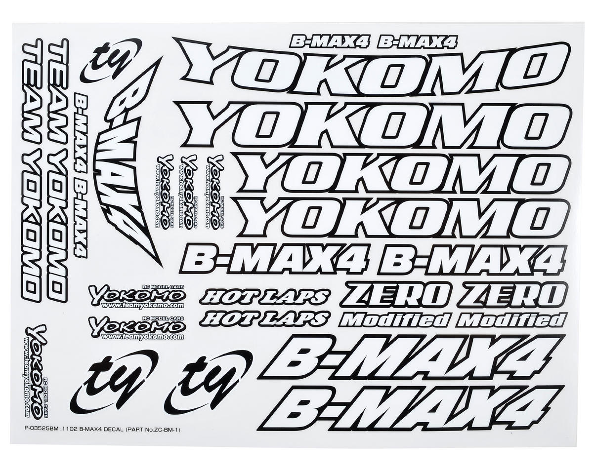 Yokomo B-MAX4 Decal Sheet