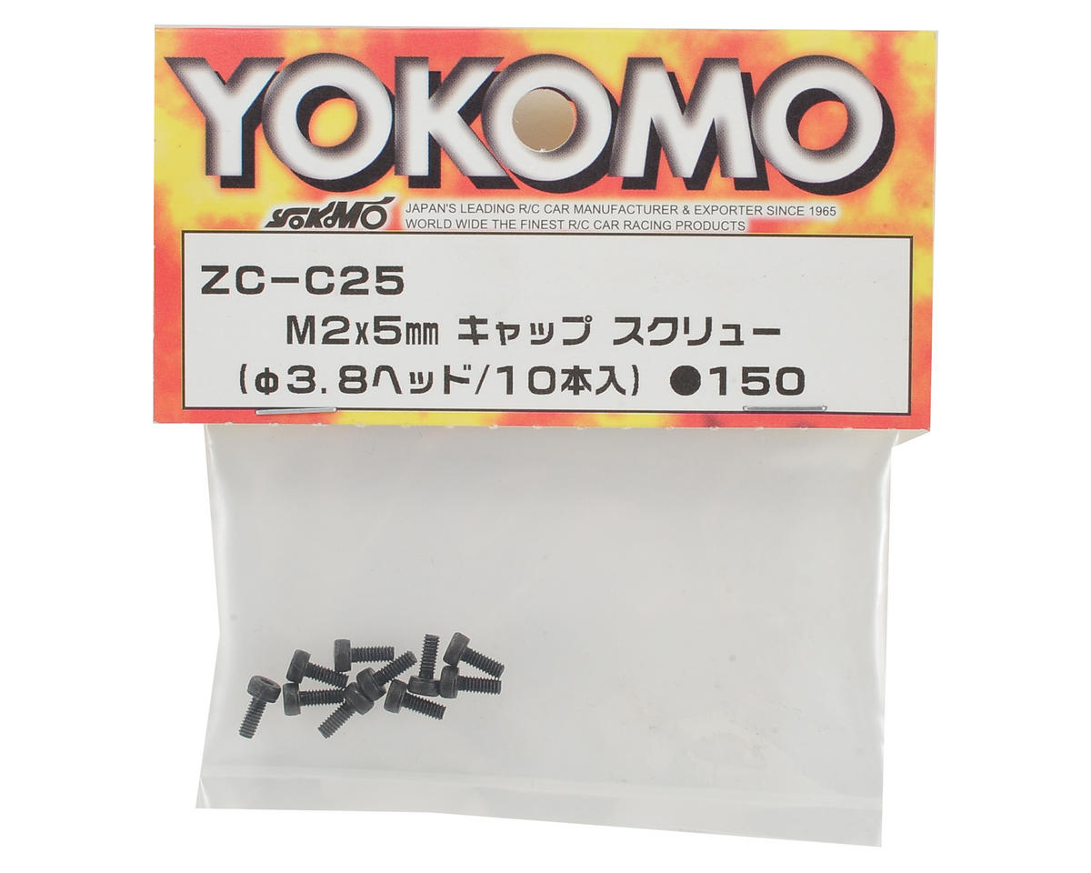 Yokomo 2.5mm Cap Head Hex Screw (10) (3.8mm Head)