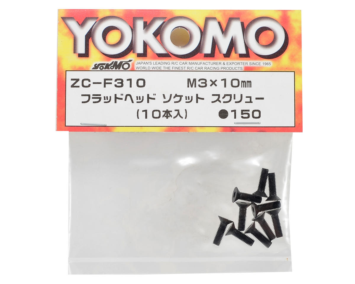 Yokomo 3x10mm Flat Head Screw (10)