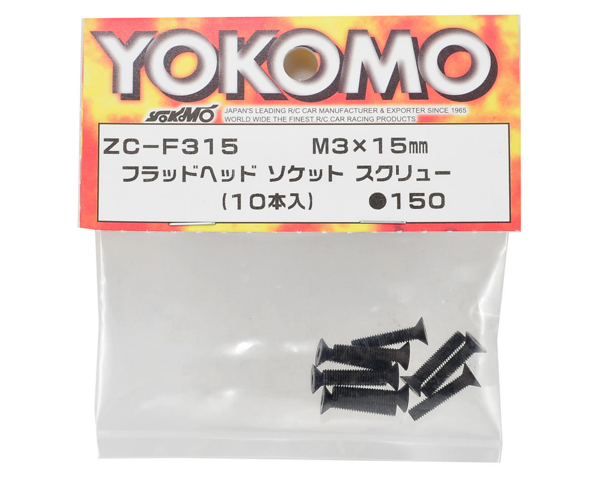 3x15mm Flat Head Screw (10) by Yokomo