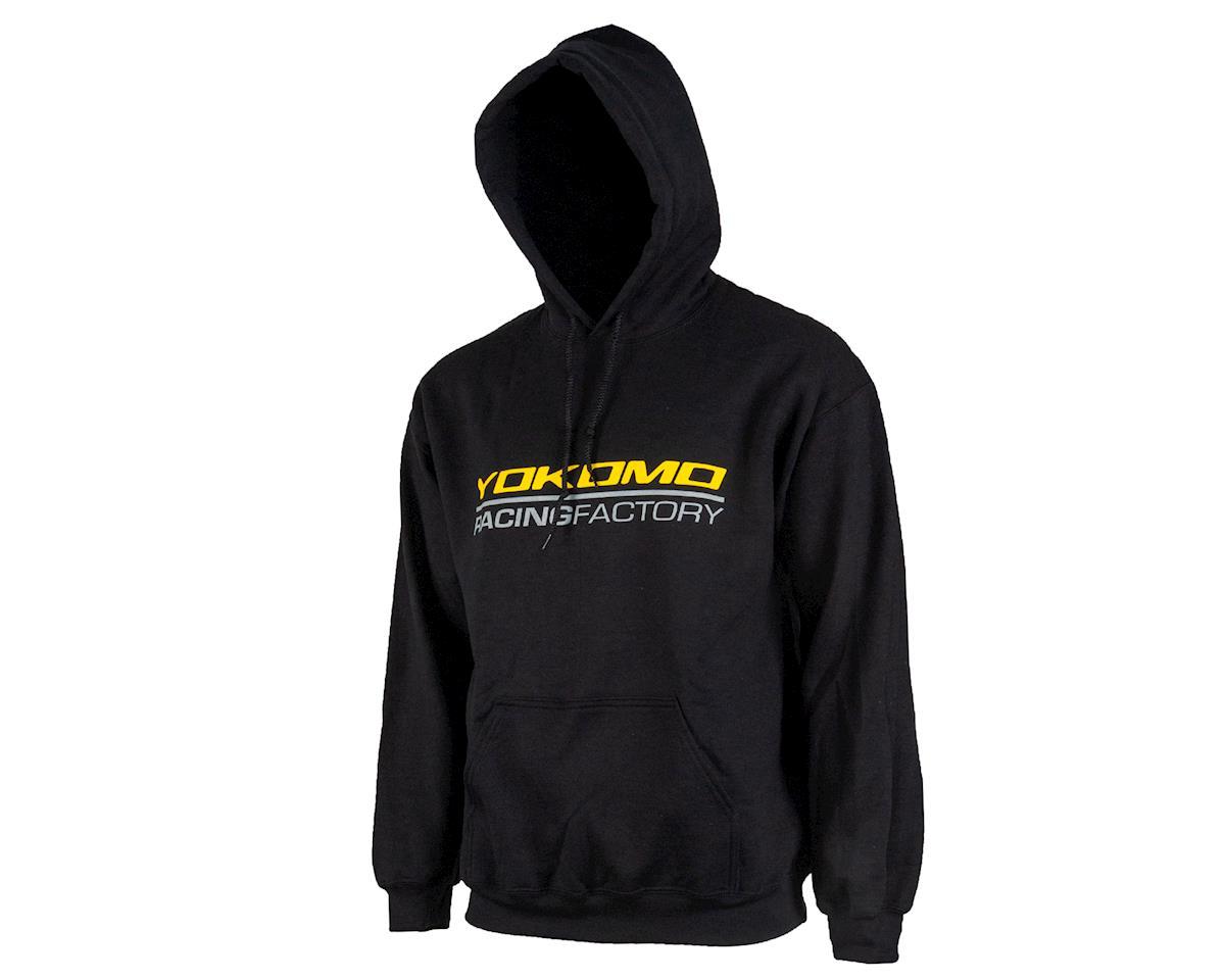 Yokomo Racing Factory Hoodie Sweatshirt (Black) (L)