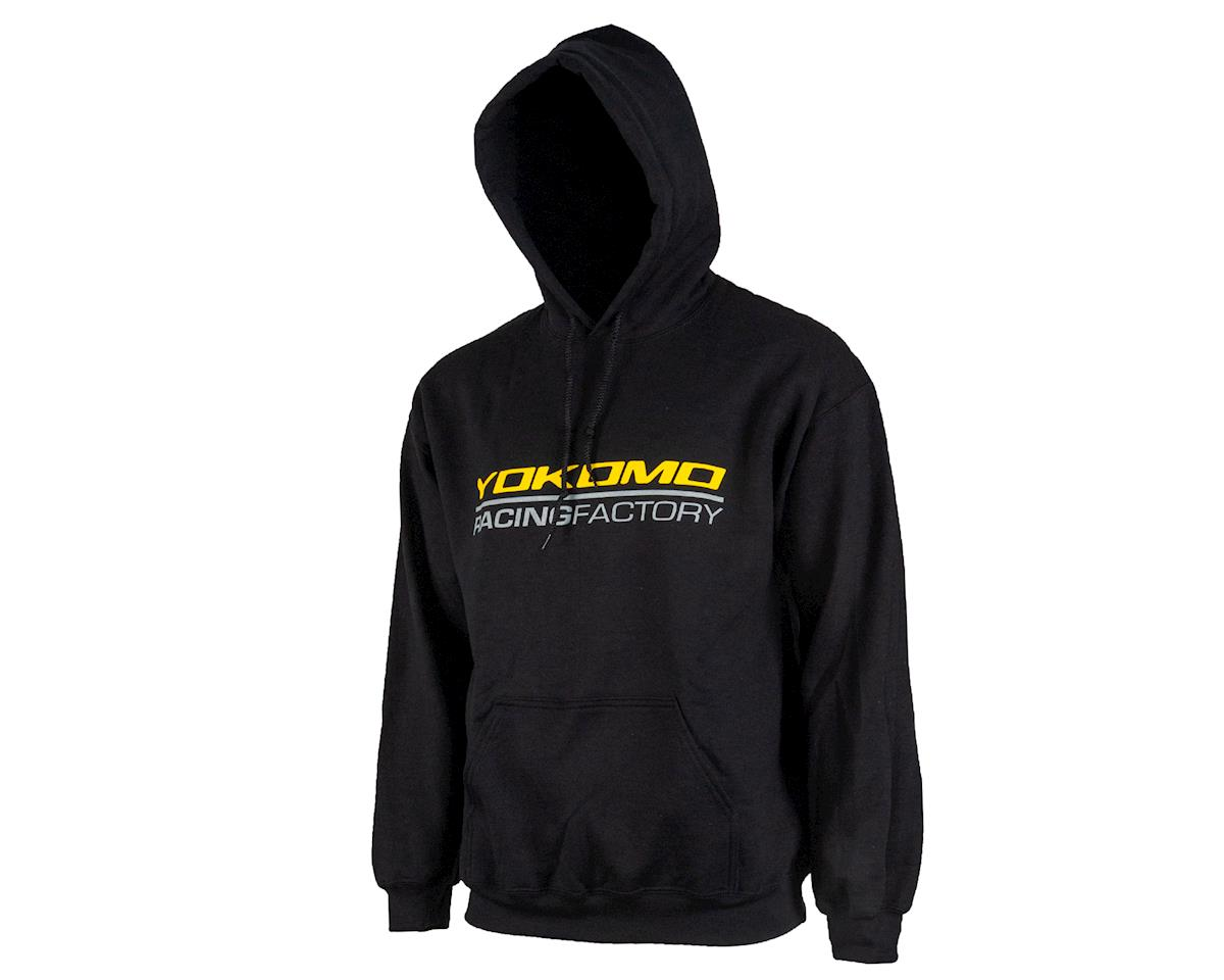 Yokomo Racing Factory Hoodie Sweatshirt (Black) (2XL)