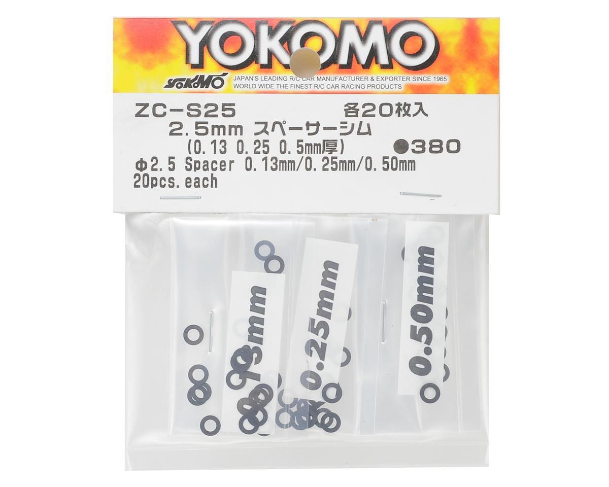 Yokomo 2.5mm Shim Spacer Set (0.13mm, 0.25mm & 0.50mm)