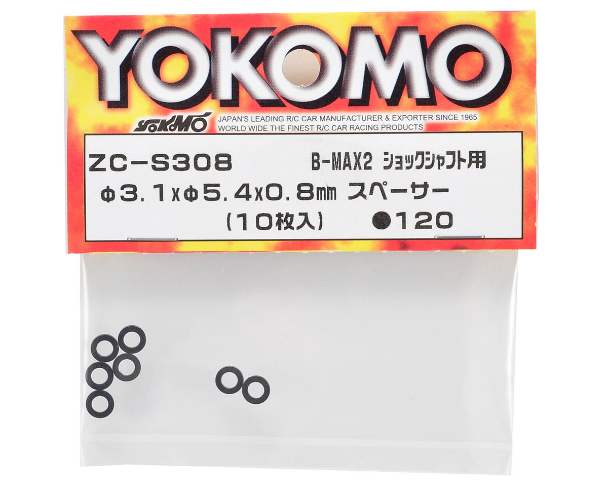 Yokomo 3.1x5.4x0.8mm Shock Shaft Spacer (10)