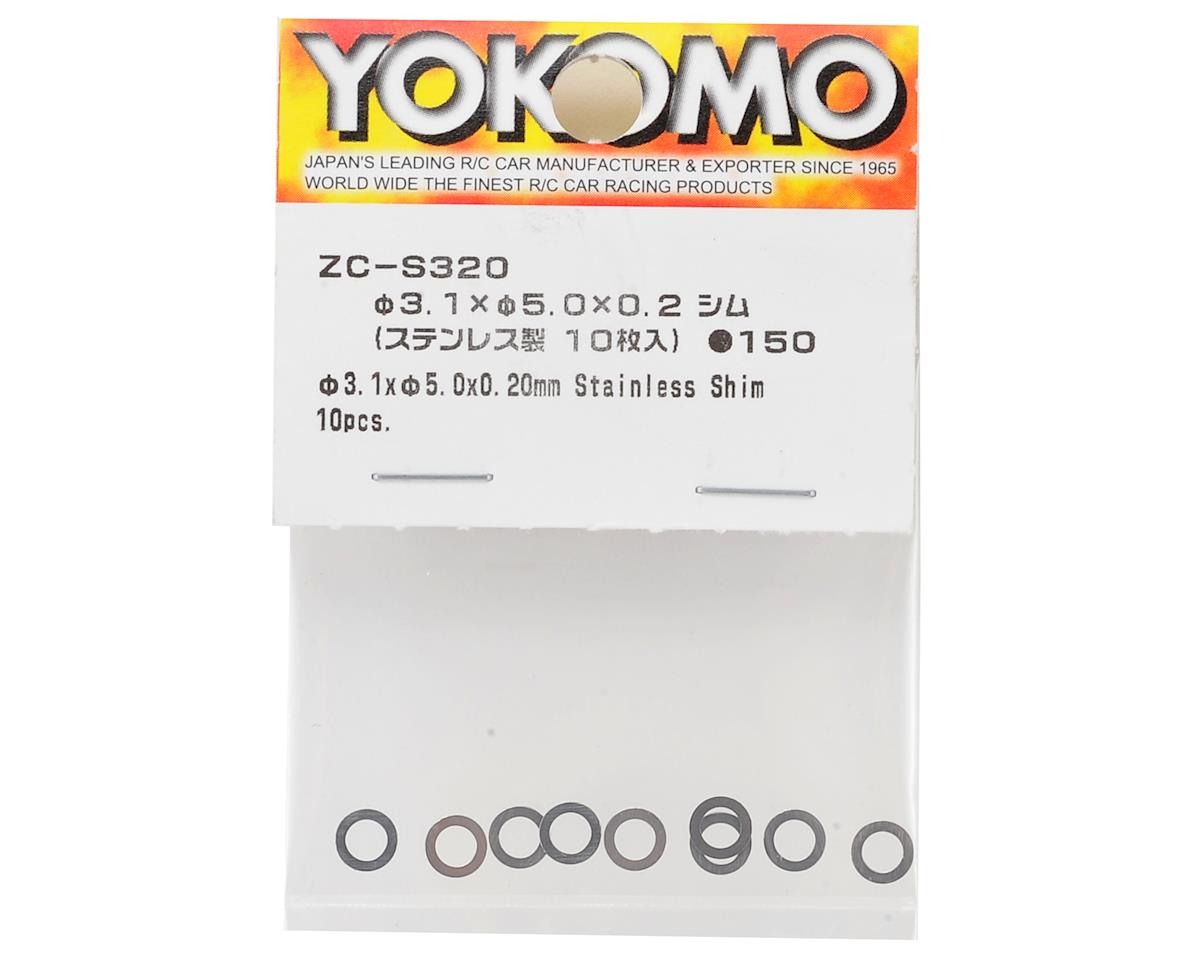 Yokomo 3.1x5x0.2mm Stainless Spacer Shim (10)