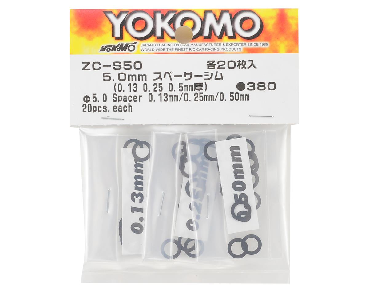 Yokomo YR-10 5mm Spacer Shim Set (0.13mm, 0.25mm & 0.50mm)