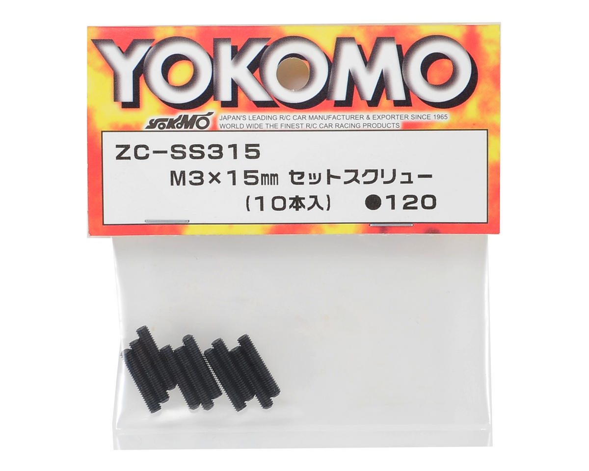 Yokomo 3x15mm Set Screw (10)