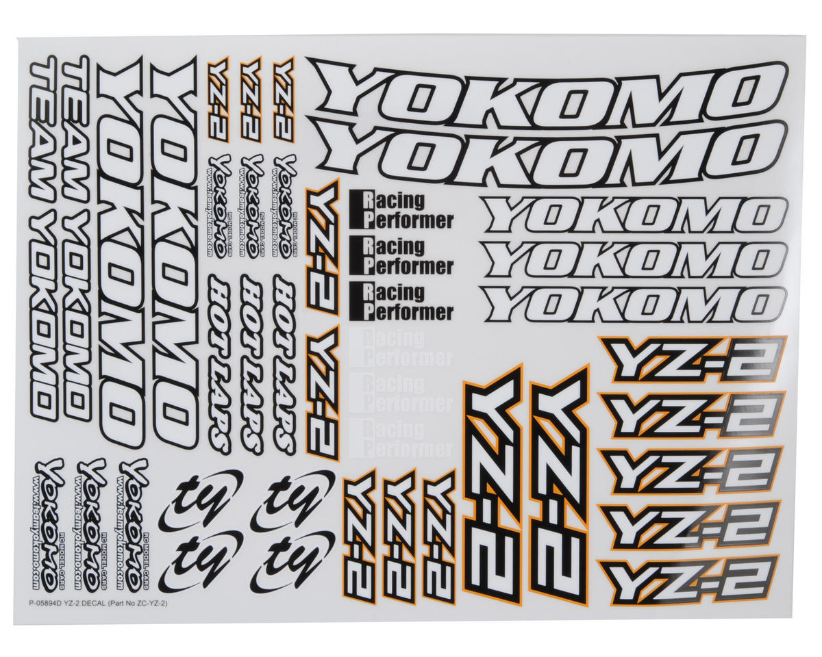 Yokomo YZ-2 Decal Sheet
