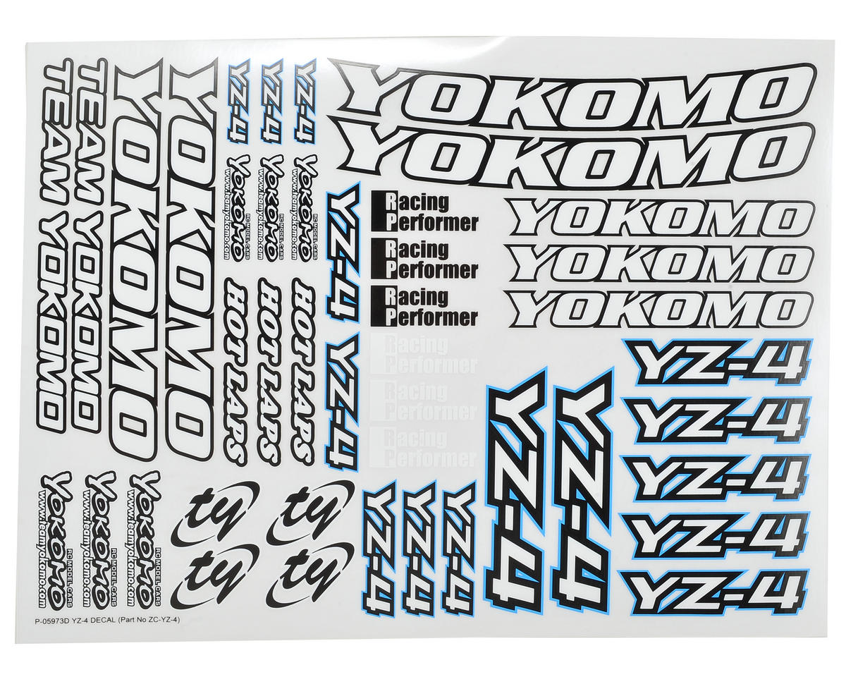 YZ-4 Decal Sheet by Yokomo