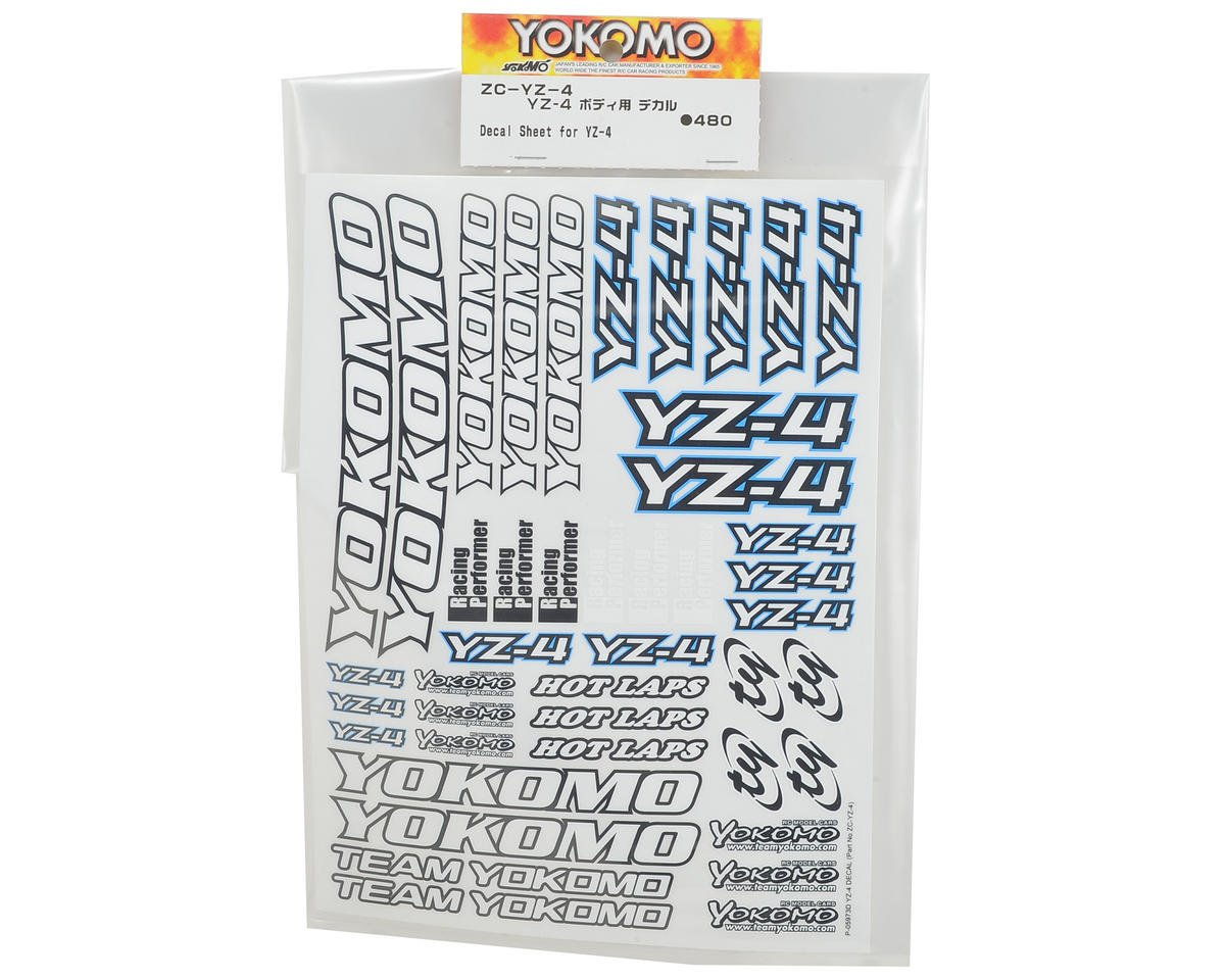 Yokomo YZ-4 Decal Sheet