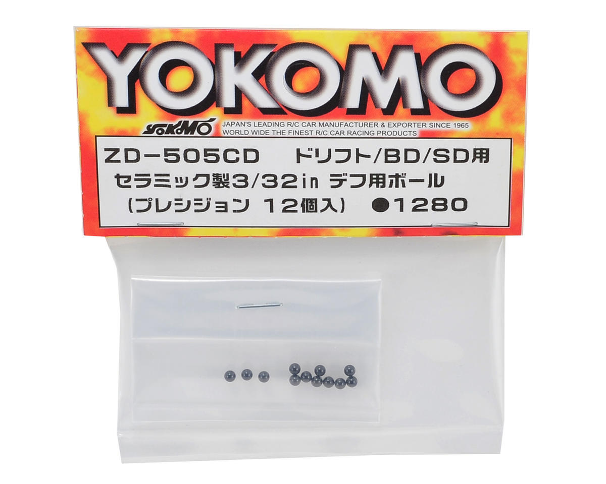 Yokomo 3/32 Ceramic Precision Differential Ball Set (12)