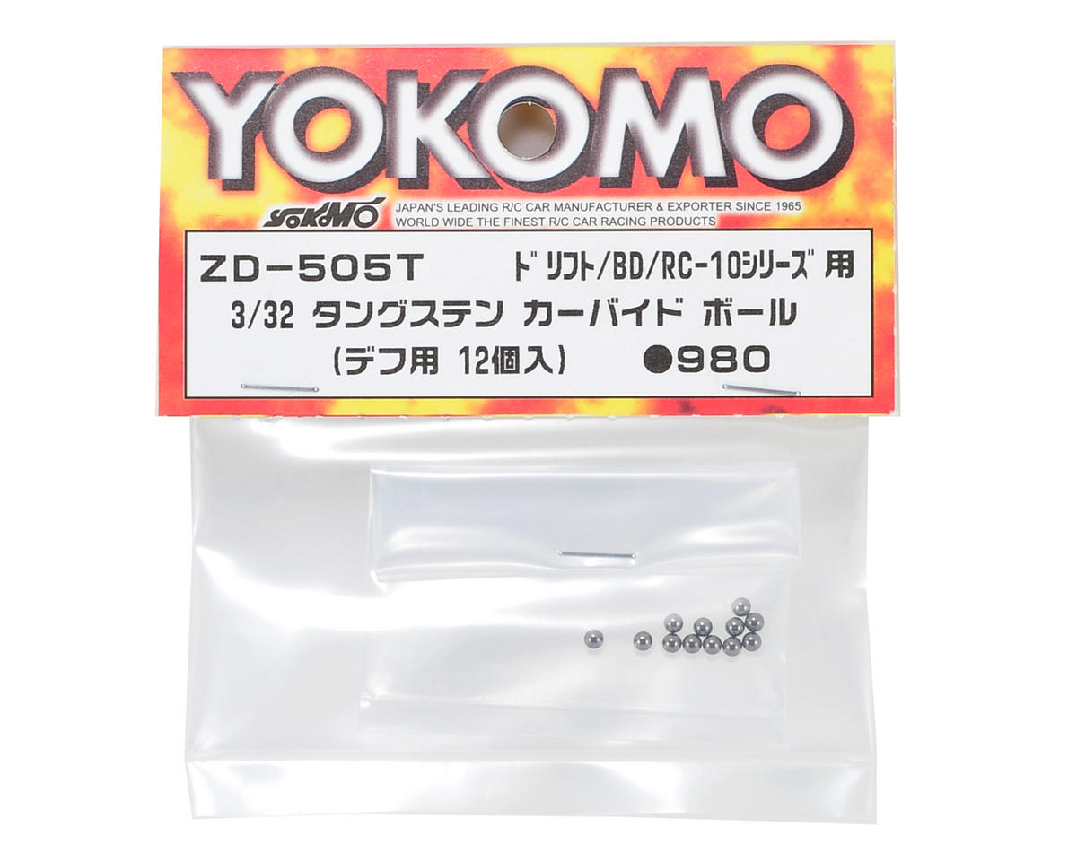 Yokomo 3/32 Tungsten Carbide Differential Ball (12)