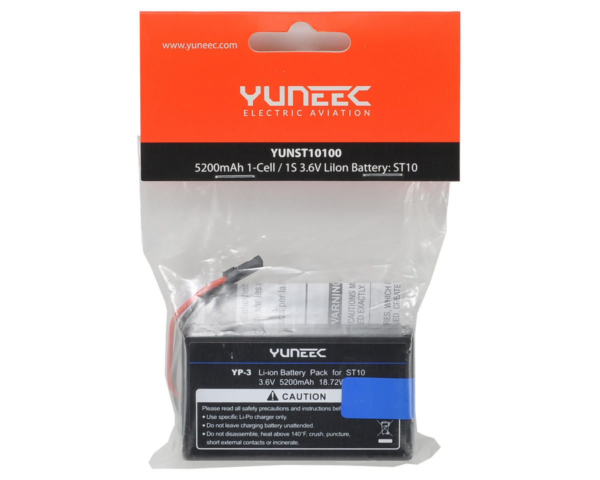 Yuneec USA ST10 1S Li-Ion Battery Pack (3.6V/5200mAh)