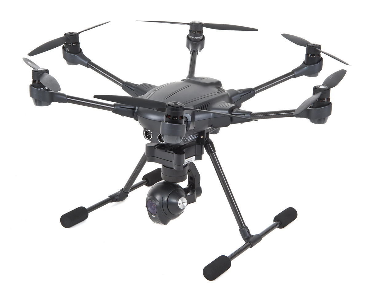 SCRATCH & DENT: Yuneec USA Typhoon H RTF Hexacopter Drone w/ ST16, CGO3+ & 1 Battery