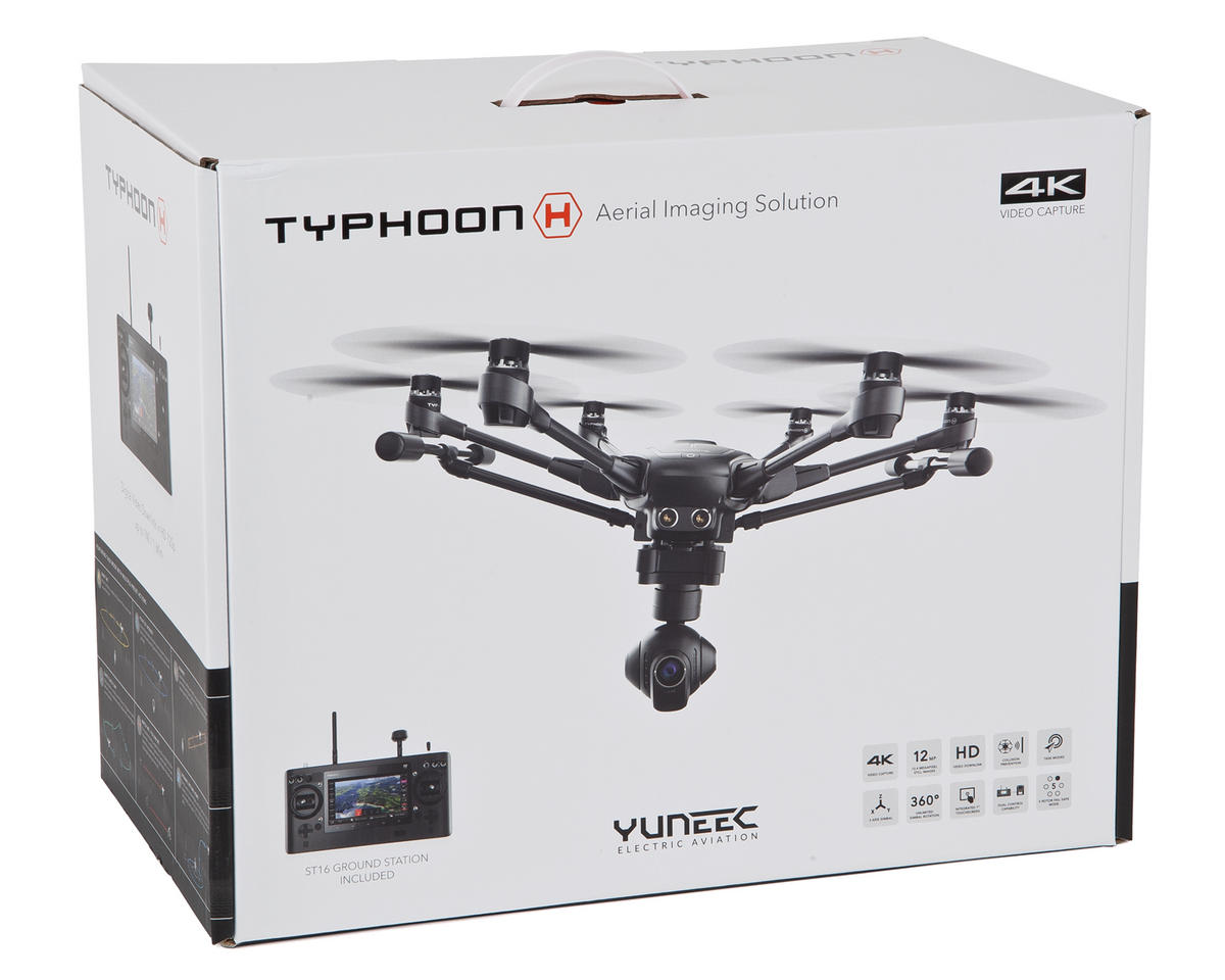 Yuneec USA Typhoon H RTF Hexacopter Drone w/ ST16, CGO3+ & 1 Battery
