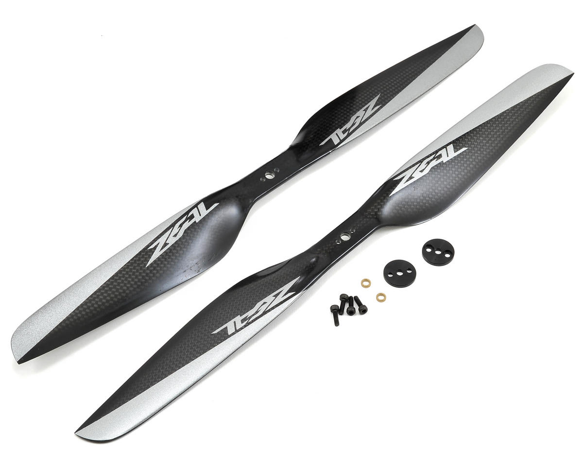 Zeal 15x5 Carbon Fiber Multirotor Propeller Set (Black) (1 - CW, 1 - CCW)