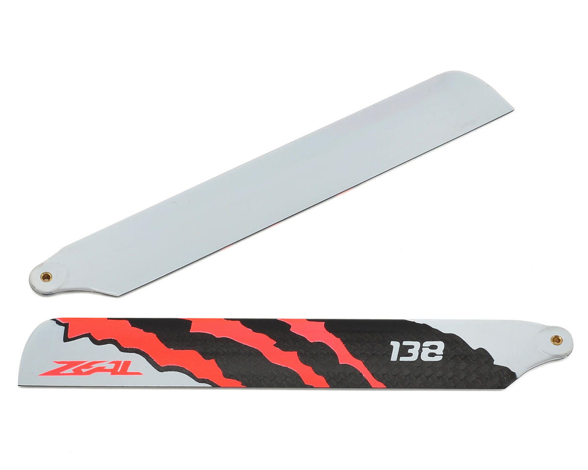 "Zeal 138mm ""Energy"" Carbon Fiber Main Blades (Neon Orange)"