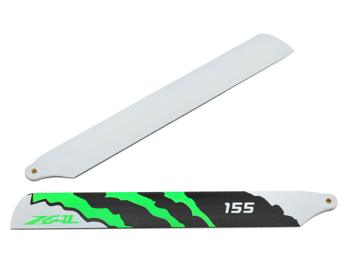 "155mm ""Energy"" Carbon Fiber Main Blades (Green) by Zeal"
