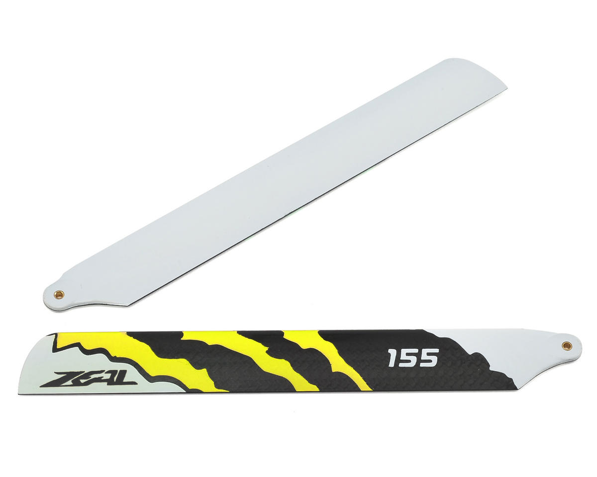 "Zeal 155mm ""Energy"" Carbon Fiber Main Blades (Yellow)"