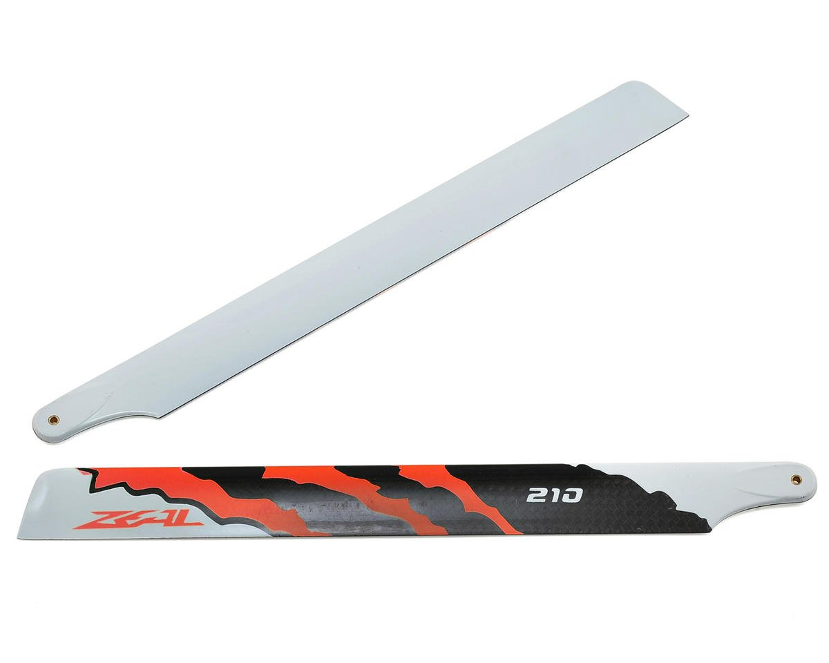 "Zeal 210mm ""Energy"" Carbon Fiber Main Blades (Neon Orange)"