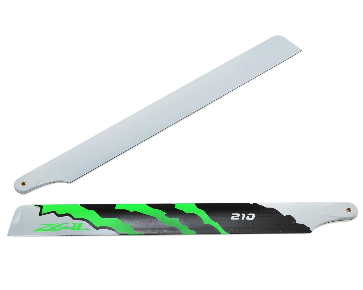 "210mm ""Energy"" Carbon Fiber Main Blades (Green) by Zeal"