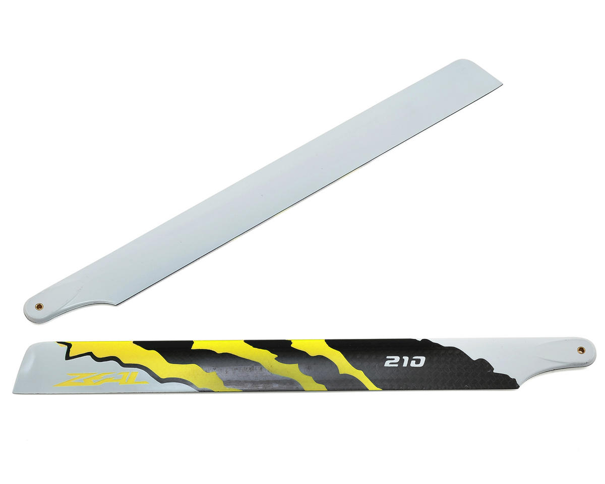 "Zeal 210mm ""Energy"" Carbon Fiber Main Blades (Yellow)"