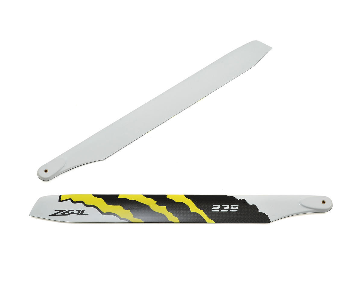 "Zeal 238mm ""Energy"" Carbon Fiber Main Blades (Yellow)"