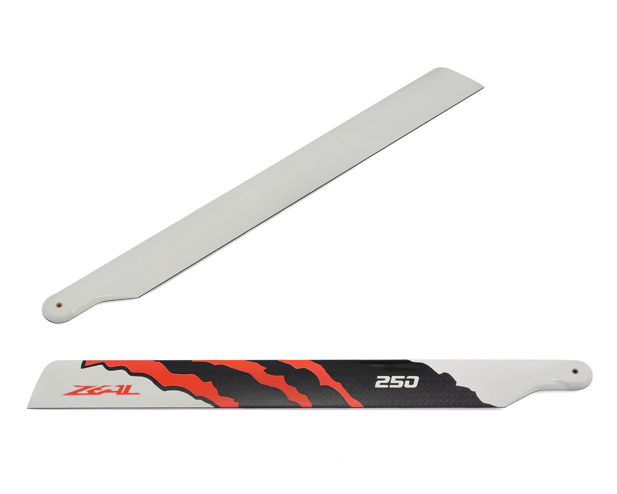 Zeal 250mm Carbon Fiber Main Blades (Orange)