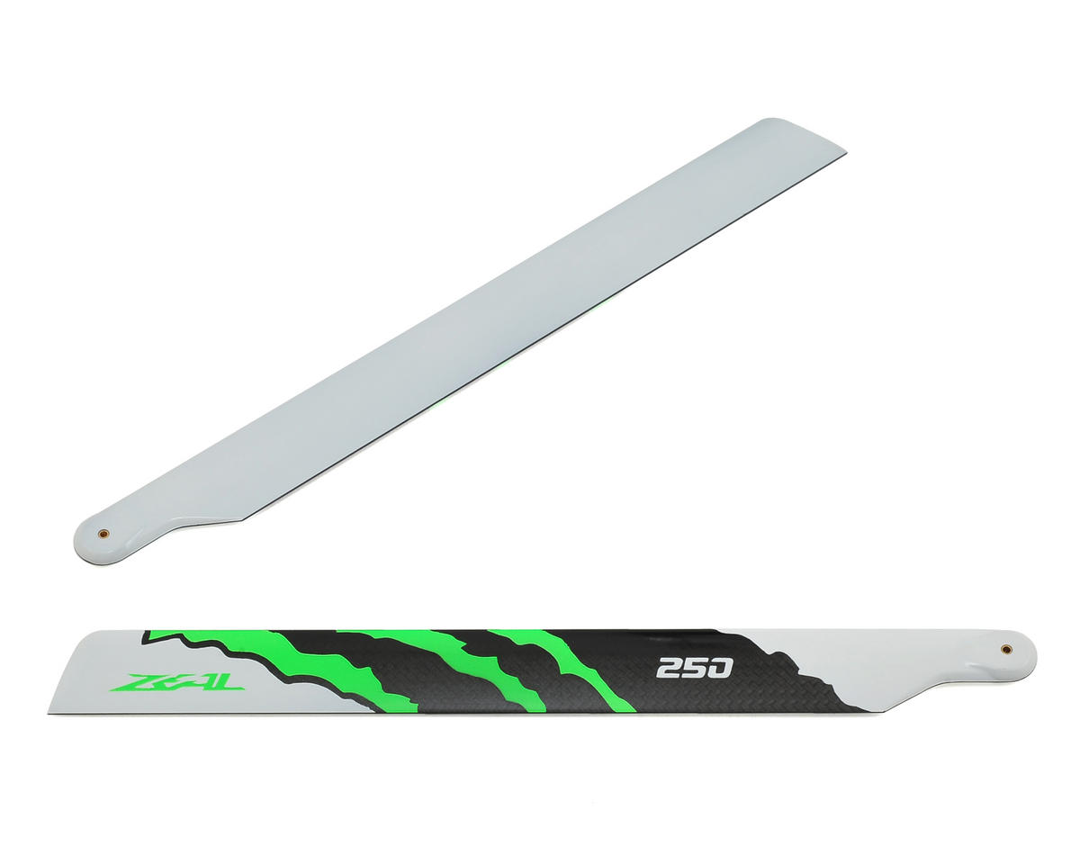 "250mm ""Energy"" Carbon Fiber Main Blades (Green) by Zeal"