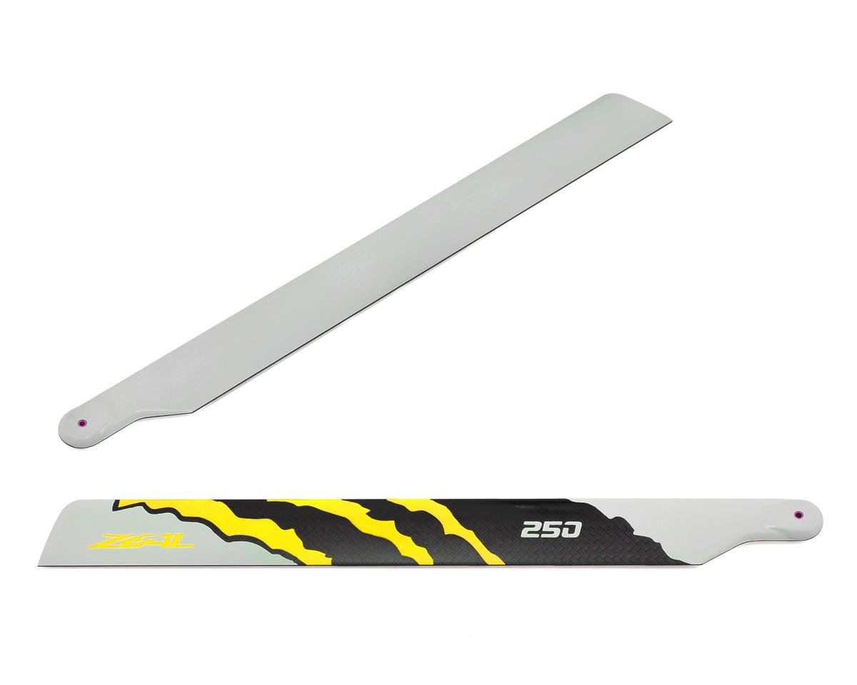 "250mm ""Energy"" Carbon Fiber Main Blades (Yellow) by Zeal"