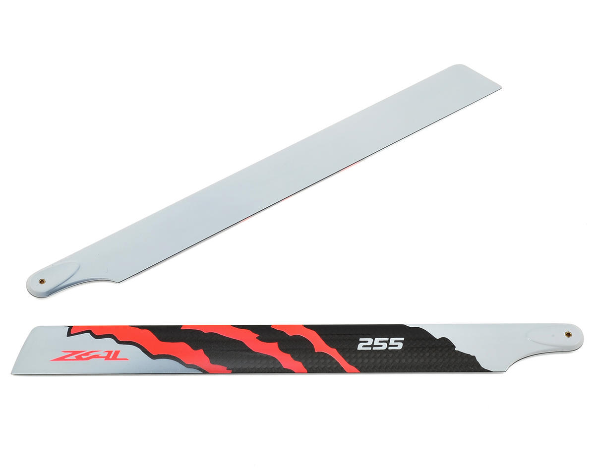 "Zeal 255mm ""Energy"" Carbon Fiber Main Blades (Neon Orange)"