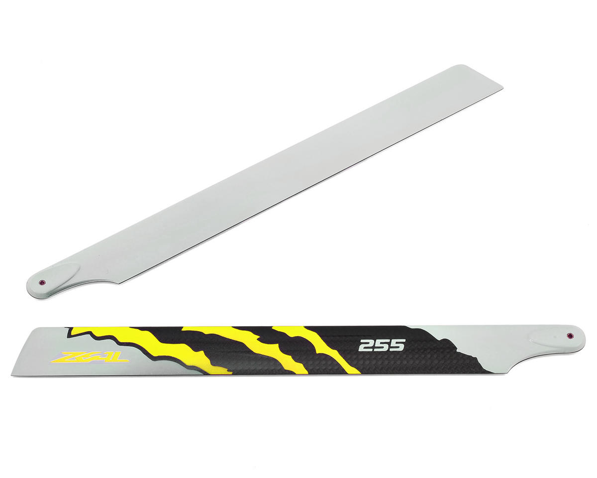 "Zeal 255mm ""Energy"" Carbon Fiber Main Blades (Yellow)"