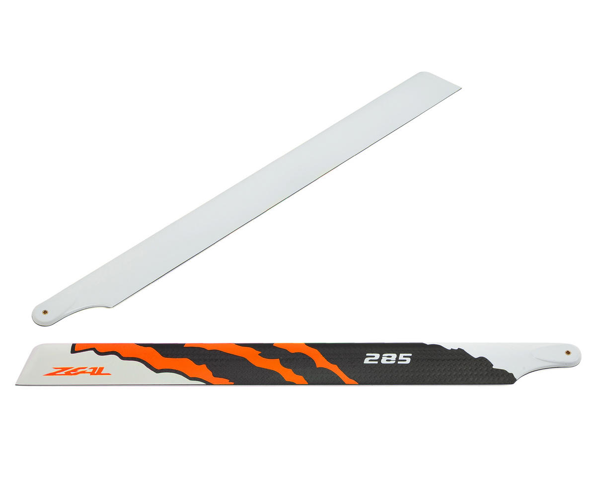 "285mm ""Energy"" Carbon Fiber Main Blades (Neon Orange) by Zeal"