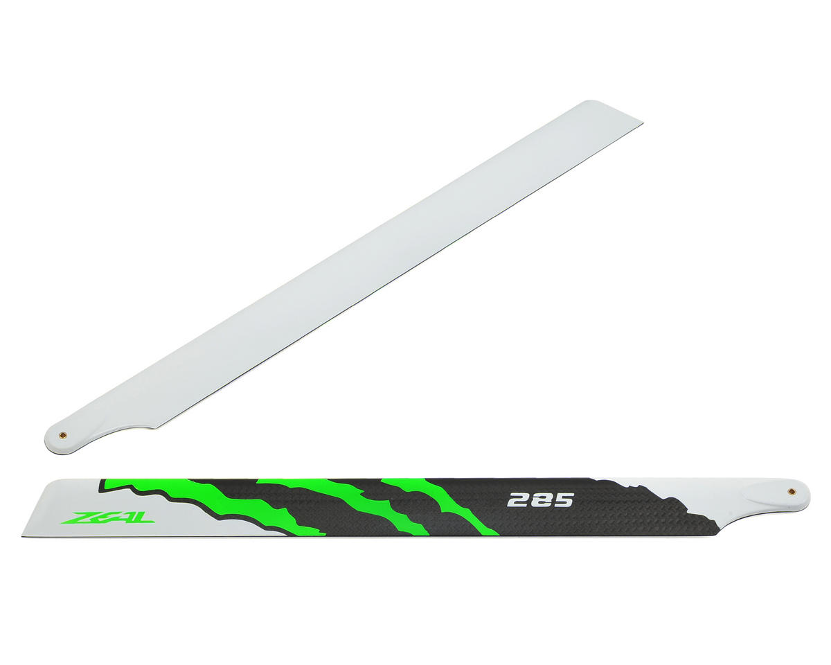 "Zeal 285mm ""Energy"" Carbon Fiber Main Blades (Green)"