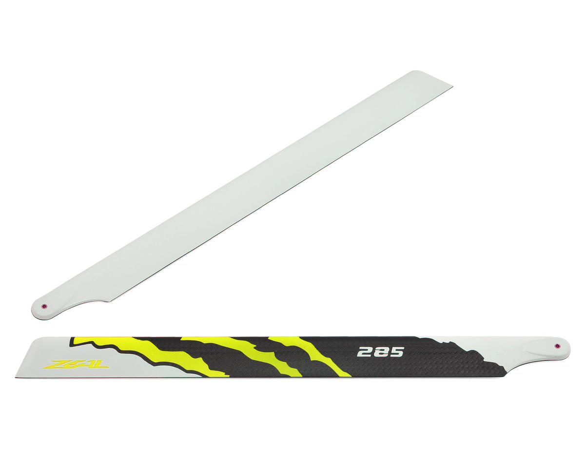 "Zeal 285mm ""Energy"" Carbon Fiber Main Blades (Yellow)"