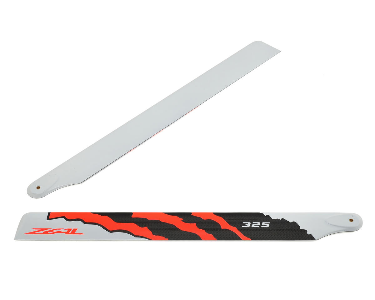 "325mm ""Energy"" Carbon Fiber Main Blade Set (Neon Orange) by Zeal"