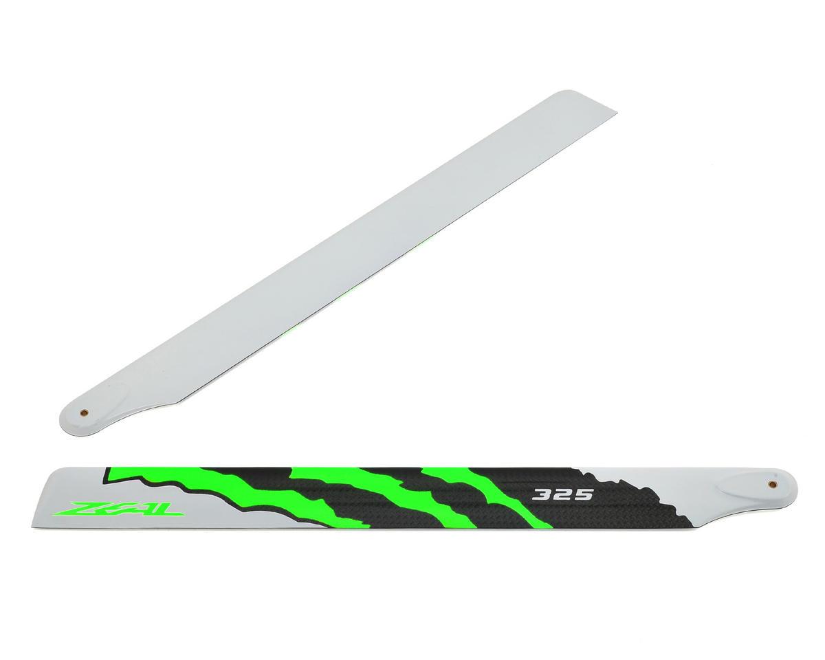 "Zeal 325mm ""Energy"" Carbon Fiber Main Blades (Green)"