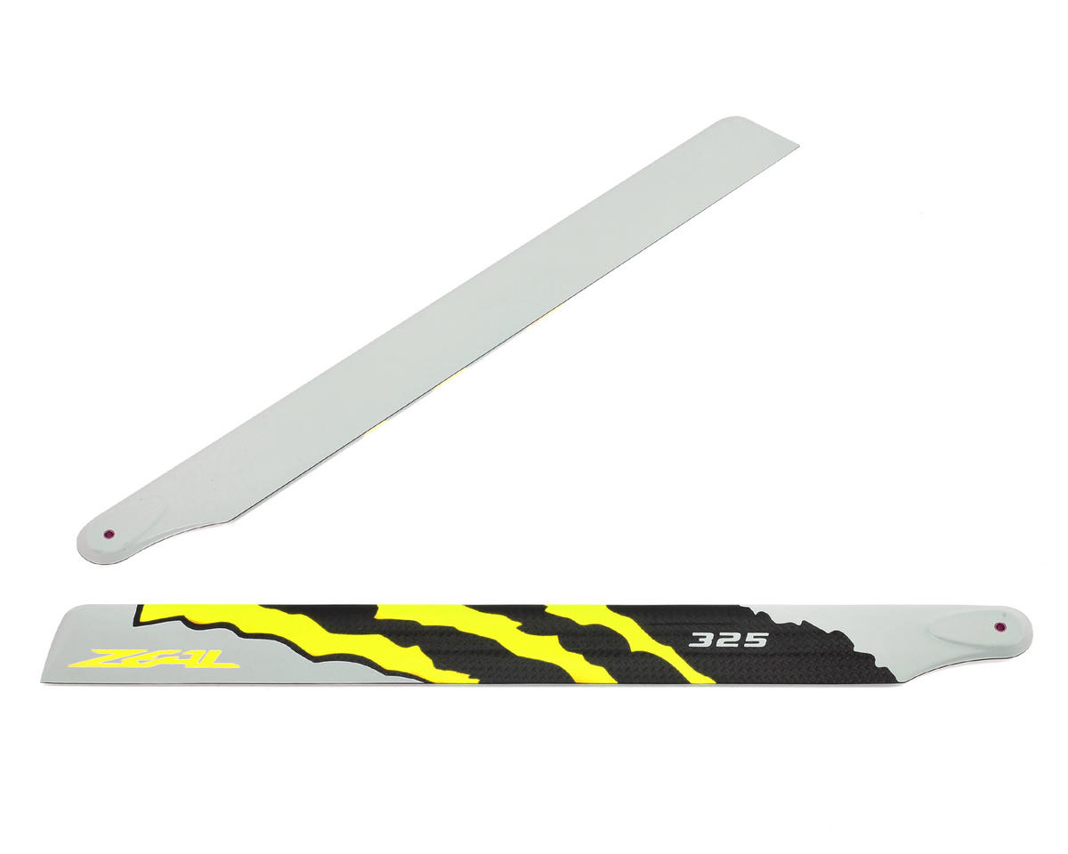 "325mm ""Energy"" Carbon Fiber Main Blades (Yellow) by Zeal"