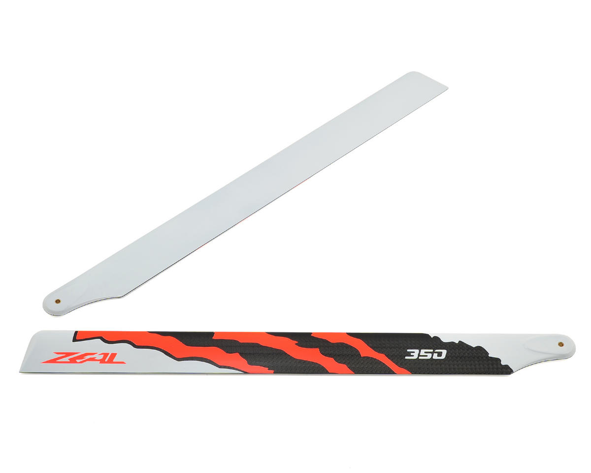 "Zeal 350mm ""Energy"" Carbon Fiber Main Blade Set (Neon Orange)"