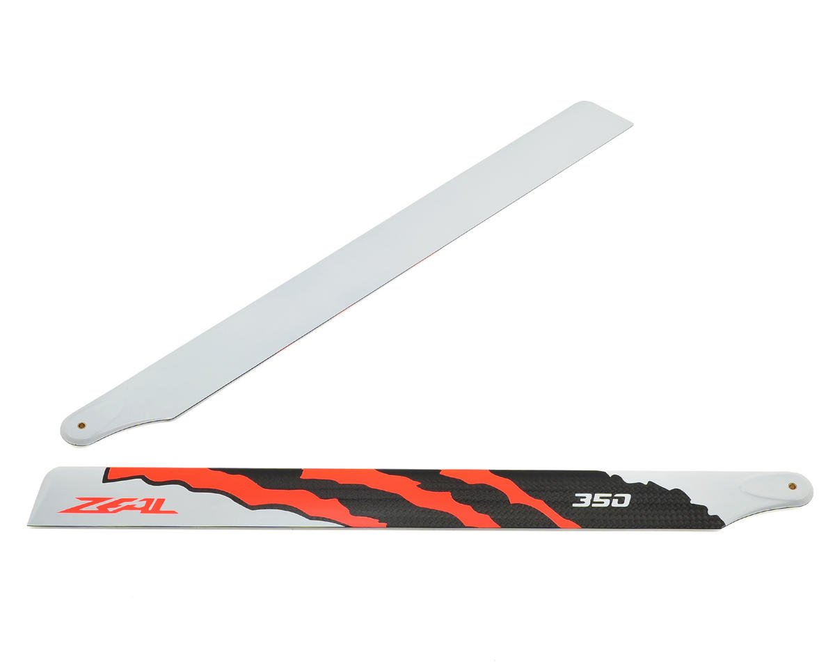 "350mm ""Energy"" Carbon Fiber Main Blade Set (Neon Orange) by Zeal"