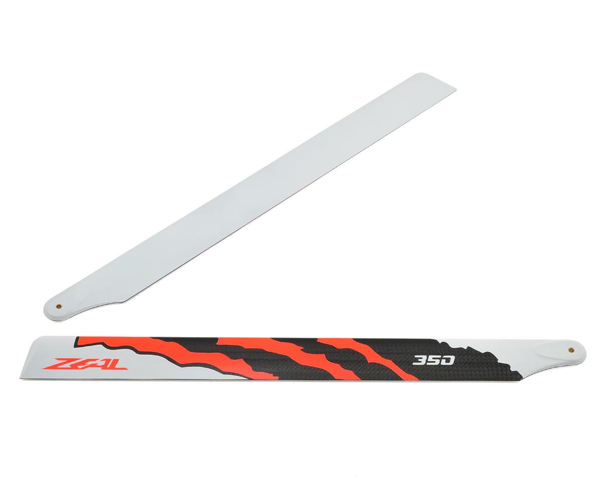 "Zeal 350mm ""Energy"" Carbon Fiber Main Blade Set (Neon Orange)"