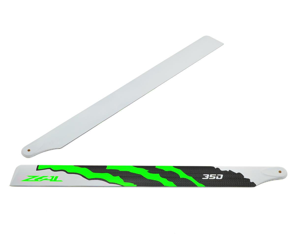 "Zeal 350mm ""Energy"" Carbon Fiber Main Blades (Green)"