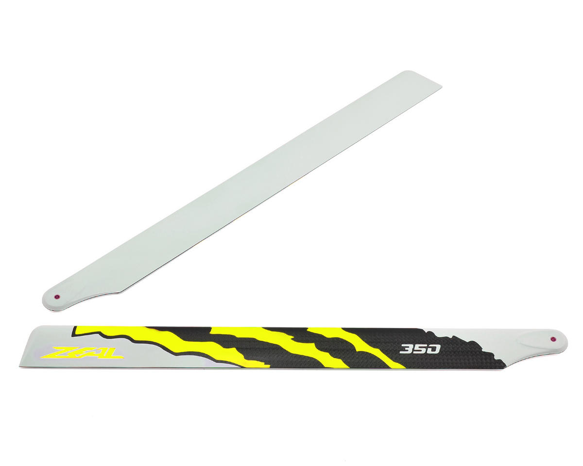 "Zeal 350mm ""Energy"" Carbon Fiber Main Blades (Yellow)"