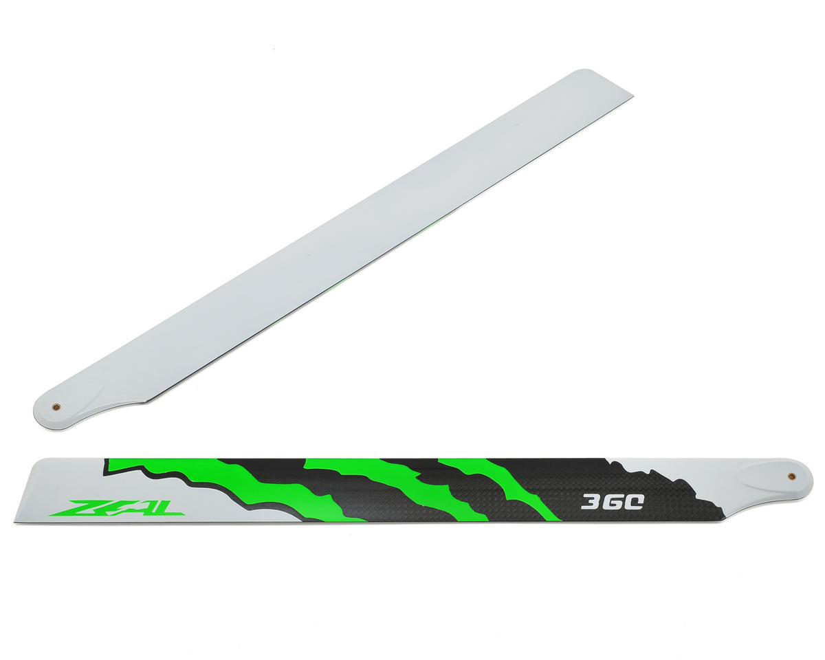 "Zeal 360mm ""Energy"" Carbon Fiber Main Blades (Green)"