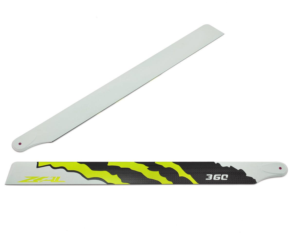 "360mm ""Energy"" Carbon Fiber Main Blades (Yellow) by Zeal"