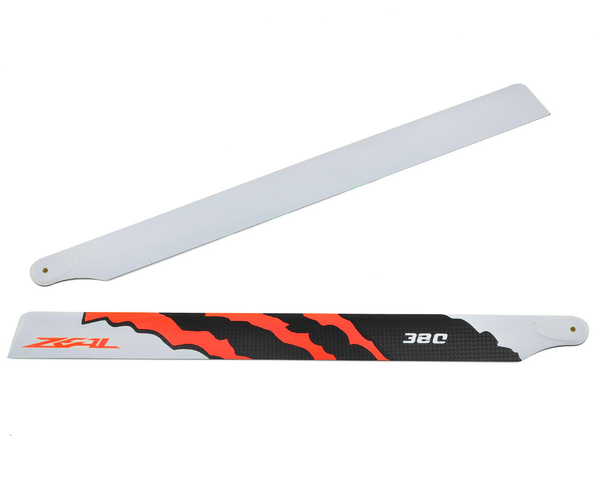"Zeal 380mm ""Energy"" Carbon Fiber Main Blades (Neon Orange)"